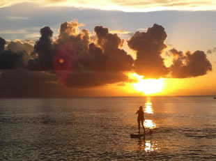 Paddleboarding @ Sunset